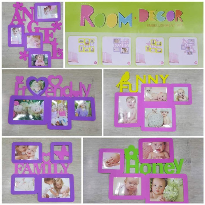 Buy room decor embellishment art photo frame wall sticker for Room decor embellishment art
