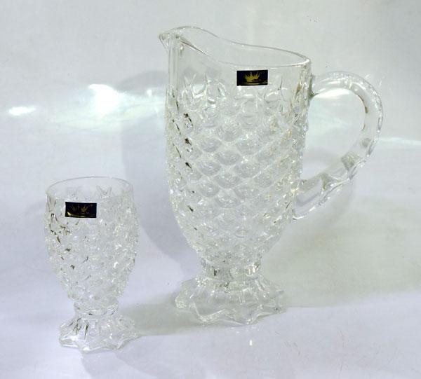 Shinemax Crystal Jug Glass Set 7 Piece