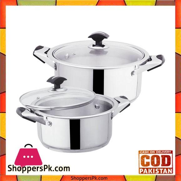 Sonex Mega Classic – 2 Cooking Pots Set – Stainless Steel