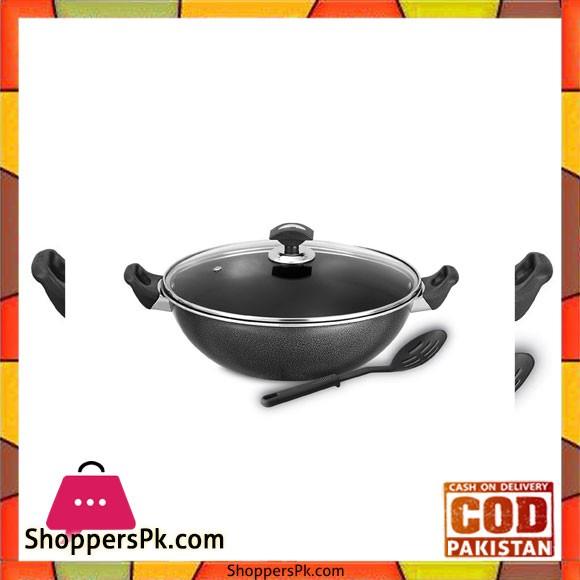 Sonex Cooking Wok – Glass Lid – Nonstick - 36 cm