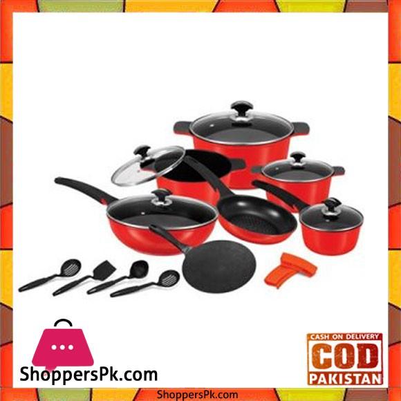Sonex Deluxe Plus 18 Pieces Cookware Set