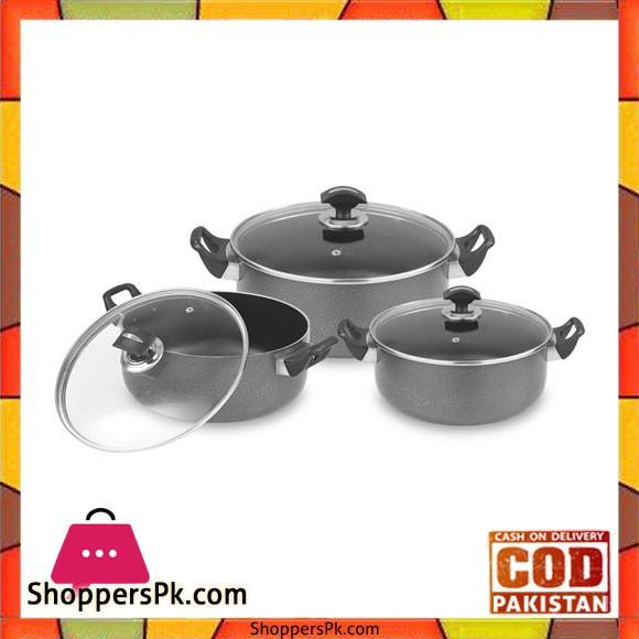 Sonex Elegant Pots Set – 50089   Nonstick