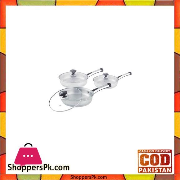 Sonex Supreme – 3 Fry Pan Set – Stainless Steel