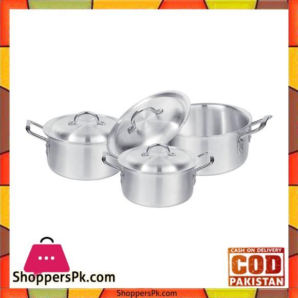 Sonex Set – 3 Cooking Pots Set – Metal Finish