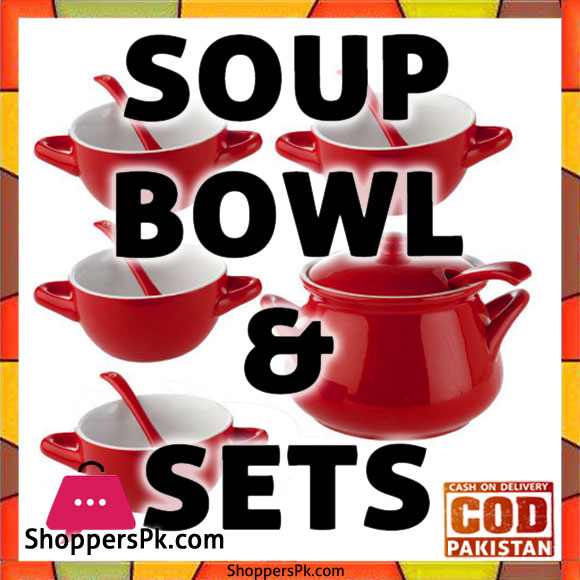 Soup Bowl and Spoon Set