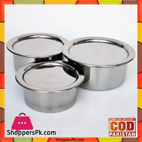 Stainless Steel Bacha Set (3 Piece)