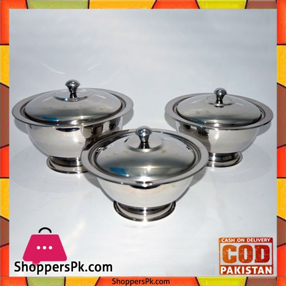 Stainless Steel Donga 3 Piece Set