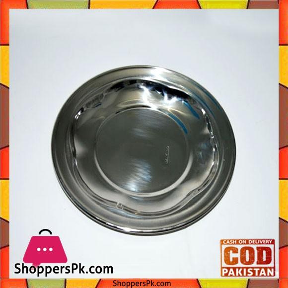 Stainless Steel Nagina Plates 6 Piece