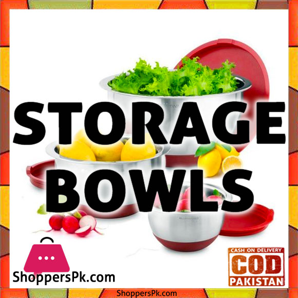 Buy Online Stainless Steel Storage Bowl Set in Pakistan