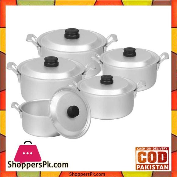 Sonex Aluminium Casted Handle 5 Pots Set