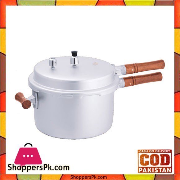 Euro Wooden Handle Pressure Cooker - 5 Litre