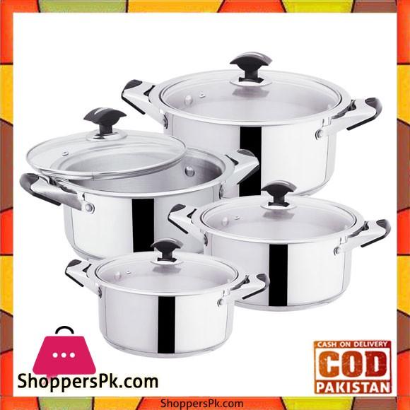 Sonex Mega Classic – 4 Cooking Pots Set – Stainless Steel