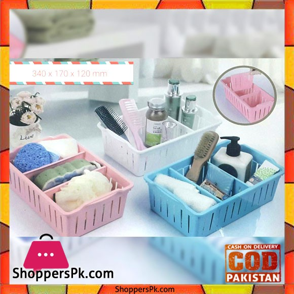 3 COMPARTMENT STORAGE BASKET SMALL