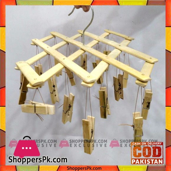 Bamboo Wooden Hanging Clothes Pin