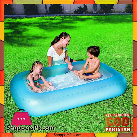 Bestway Aquababe Pool with Inflatable Bottom 65 x 41 x 10 Inch 2 Assorted Colors #51115