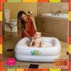 Bestway Baby Bath Tub Square with Inflatable Bottom White 34 x 34 x 10 Inch #51116