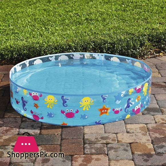 Bestway Fill 'N Fun Fix Basin Ocean Life Vinyl kids Play Pool 4 Feet #55028