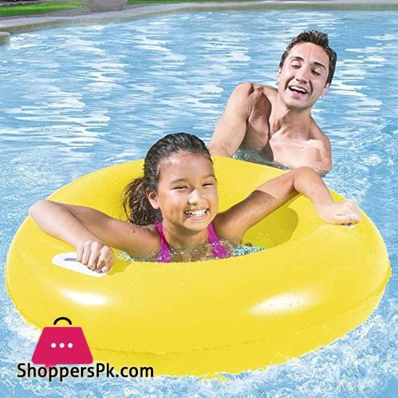 Bestway Heavy Duty Handles Swim Float Ring 36 Inch 36084