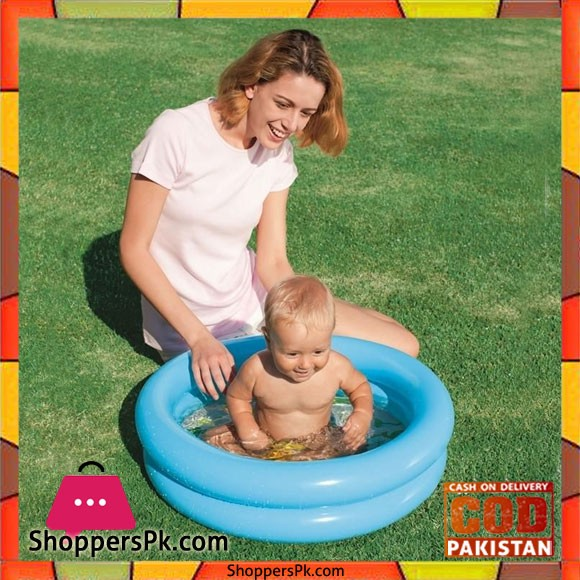 Bestway 51061 Paddling Round 2 Ring Kiddie Pool