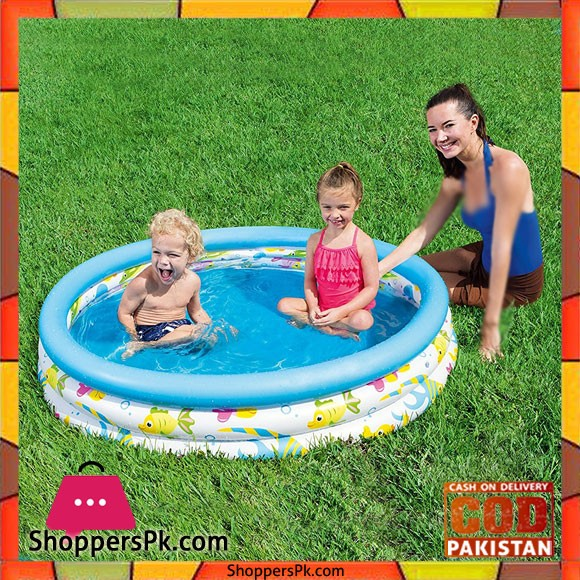 Bestway Colourful Ocean Life Childs Pool 4 Feet Pool #51009