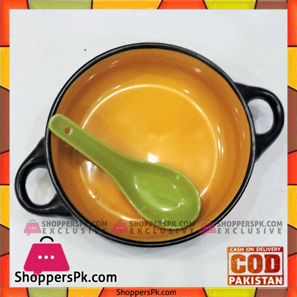 High Quality Ceramic Soup Bowl With Spoon