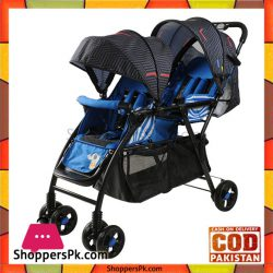 High Quality Twins Baby Stroller Double Seat Red And Blue -705