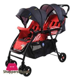 High Quality Twins Baby Stroller Double Seat Red And Blue 705