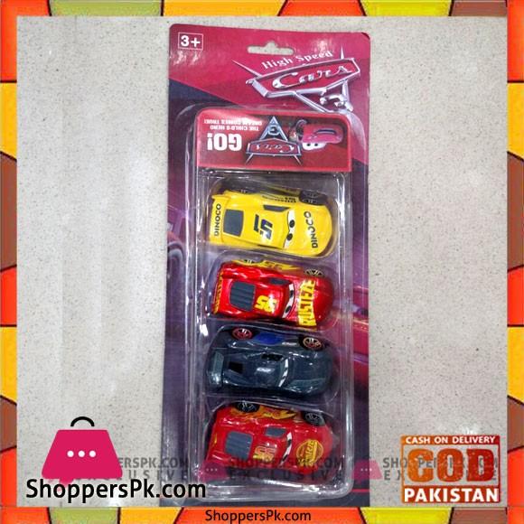 High Speed Cars 4 Piece