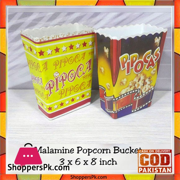 Melamine Popcorn Bucket 1- Pcs