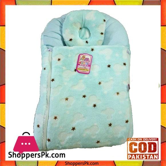 Plush Blue Sleeping Bag For Baby - Random Design
