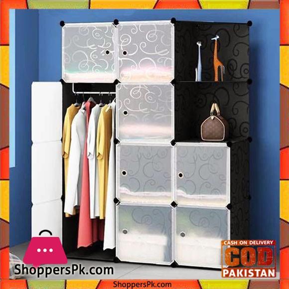 Portable Cabinet 9 Cube 1 Hanging Corner Storage