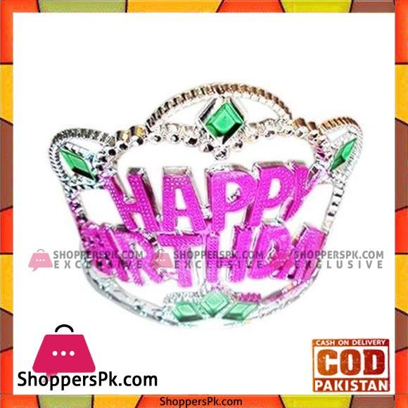 Princess Happy Birthday Crown/Tiara - Multi