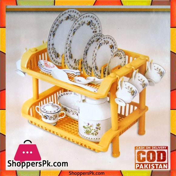 Rolax Double Storey Kitchen Rack Plastic 13550-D