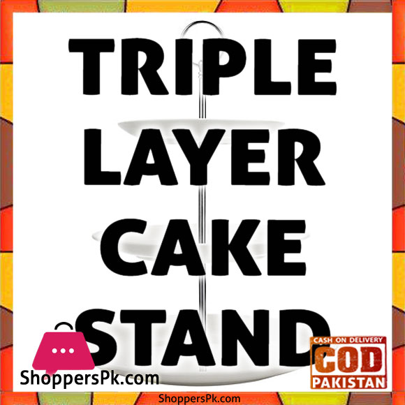 Acrylic Triple Layer Cake Stand in Pakistan