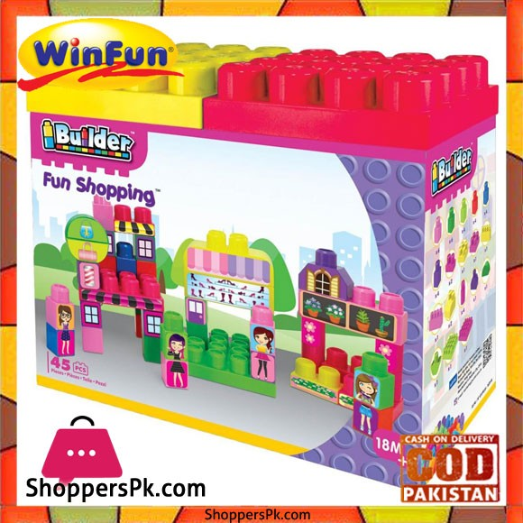 Winfun I Builder Fun Shopping 45 Pcs Block Set