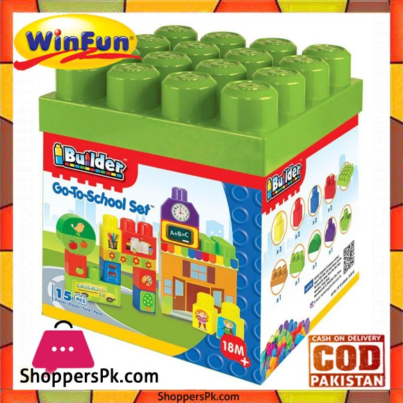 Winfun I Builder Go-To-School Set 15 Pcs Block Set