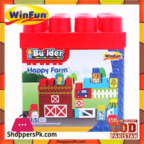 Winfun I Builder Happy Farm 15 Pcs Block Set