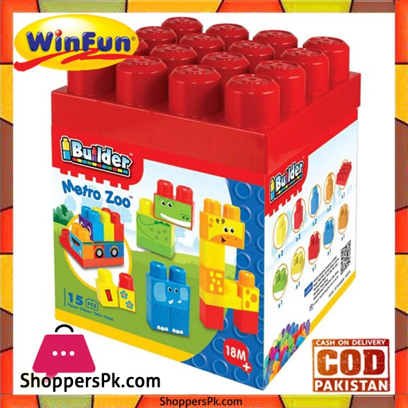 Winfun I Builder Metro Zoo 15 Pcs