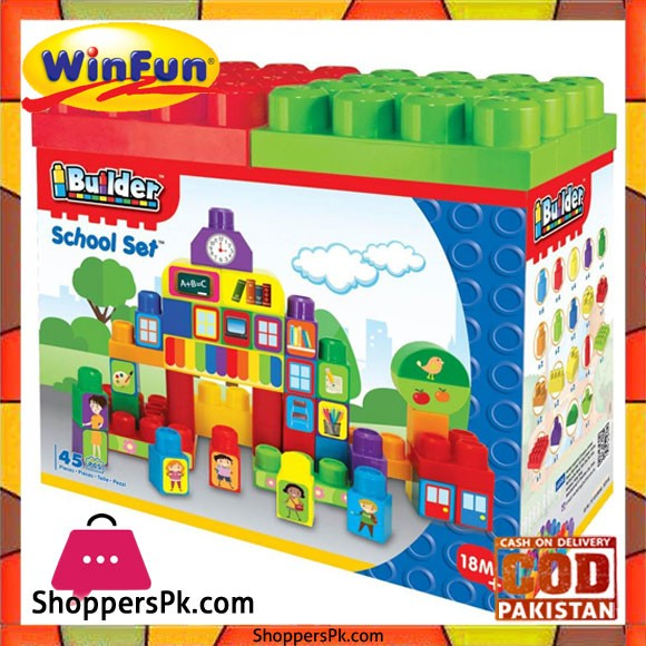 Winfun I Builder School Set 45 Pcs Block Set