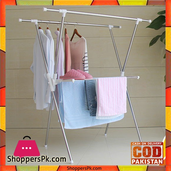X-Type Stainless Steel Clothing Rack