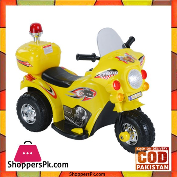XQ Ride On Plastic Motorcycle For Kids Yellow MD-991