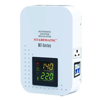Stabimatic WZ2-3000 - 3000VA, Automatic Voltage Regulator, Ultra Slim Stabilizer, White - Karachi Only