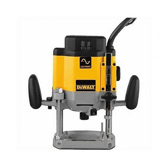 Dewalt Dw625E 3 Hp Maximum Motor Hp Evs Plunge Router-Yellow & Grey