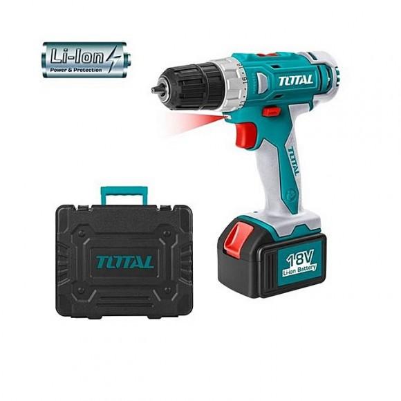 Total Tdli228180 Cordless Drill 18V-Green & Grey