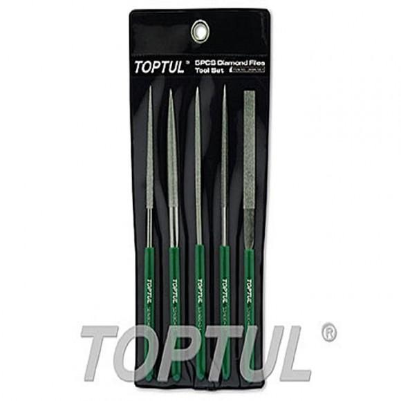 TOPTUL Diamond Needle File Set 160mm Length TOPTUL GNBA0501