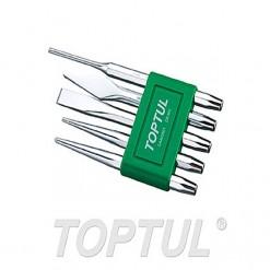 TOPTUL 5 Pcs Chisel Set Pin Punch TOPTUL GAAV0501