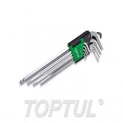 TOPTUL LN Key Set 9pc 1.5 to 10mm Extra Long Length (ball head type) TOPTUL GAAL0917