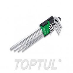 TOPTUL LN Key Set 9pc 1.5 to 10mm extra long length (hex type) TOPTUL GAAL0912