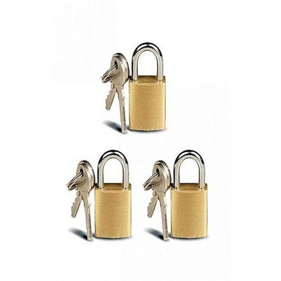 Lock & Lock Pack of 3 - Metal Padlock