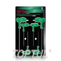 TOPTUL 6PCS Two Way Ball & Hex Key Wrench AGCA:2 2.5 3 4 5 6mm TOPTUL GAAS0601
